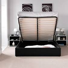 chanel ottoman storage gas lift bed luxury leather beds beds