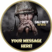 call of duty cake topper a 7 5 call of duty cod ww2 personalised cake topper icing