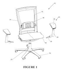 patent us6637072 castored base for an office chair google patents