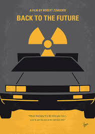 no183 my back to the future minimal movie poster greeting card for