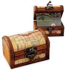 Treasure Chest Favors by Personalized Wood Treasure Map Chest Box Hansonellis