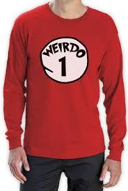 T Shirt Halloween Weirdo 1 Costume Long Sleeve T Shirt Halloween Party Matching Bff