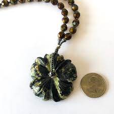 black flower necklace images Wildflower pendant necklace simple graces jewelry jpg