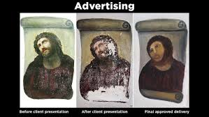 Newest Internet Meme - ruined spanish painting of christ is the newest internet meme