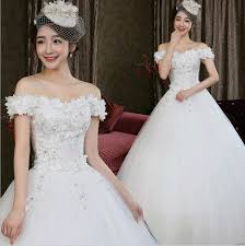 w73102 fashion korean lace bride tie flowers thin wedding dress