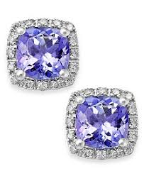 tanzanite stud earrings tanzanite earrings macy s
