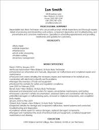 Sample Technician Resume by Professional Auto Body Technician Resume Templates To Showcase