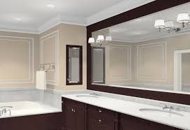 Wood Framed Bathroom Mirrors by Bathroom Mirror Decorating Ideas Master Bath Vanity And Mirror