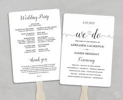 cheap wedding ceremony programs printable wedding program template fan wedding program diy kraft