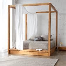 Wood Canopy Bed Frame Images Of Canopy Bed Frame Vine Dine King Bed Make A