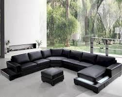 Black Sectional Sleeper Sofa by Interesting Soft Leather Sectional Sofa 49 On Lazy Boy Sectional