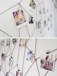 bedroom wall decor diy where to buy diy geometric web photo wall hanging photos display