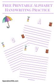 free alphabet printable handwriting worksheets operation 40k
