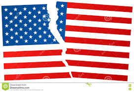 Flag Of The United States Of America Broken Flag Of United States Of America Stock Illustration Image