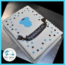 onesie buttercream baby shower sheet cake blue sheep bake shop