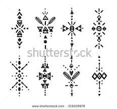 vector tribal elements ethnic stock vector 319228979