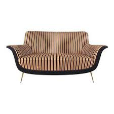 Modern Loveseat Sofa Vintage Used Curved Couches Sofas Chairish