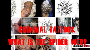 tattoo spider web elbow criminal tattoos what is the spider web youtube
