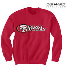 49er sweatshirts sunday funday red sweatshirt best deal