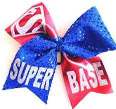 blue bows cheer bows blue sparkly base hair bow