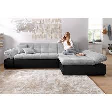 canapé lit d angle canapé convertible d angle accoudoirs relevables méridienne fixe