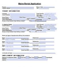 free maine rental application pdf word doc