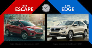 Ford Escape Fuel Economy - escape vs edge ford u0027s suv family feud carsforsale com blog