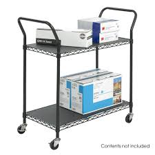 Wire Shelf Cart Amazon Com Safco Products 5337bl Wire Utility Cart With 2