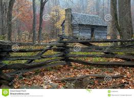 smoky mountains restored rustic cabin stock photo image 27625450