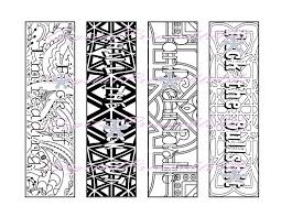 printable bookmark swear coloring page book mark mature