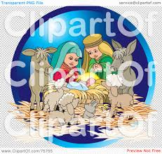royalty free rf clipart illustration of a nativity scene of