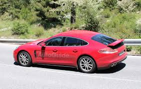 porsche panamera 2017 red redesigned porsche panamera caught in the wild nearly fully