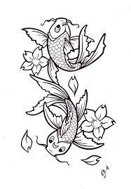 collection of 25 koi fish zodiac symbol designs