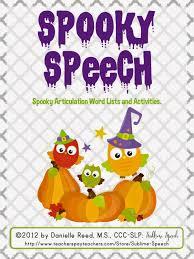 speechie freebies spooky speech