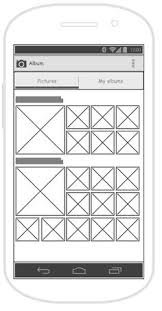 tools mobile wireframe tool android tablet wireframe for an android apps called restaurant