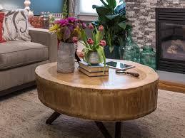 inspiring tree trunk coffee table twuzzer