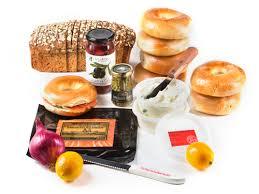 breakfast gift basket salmon set up brunch basket