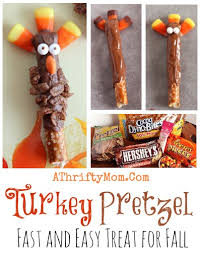 turkey pretzel pops fast and easy treat for thanksgiving or fall