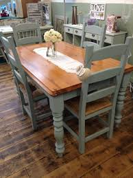kitchen table hand painted table tops chalk paint dining table