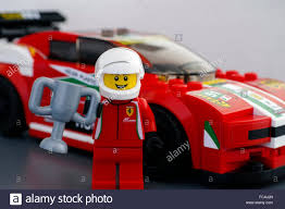 lego sports car lego ferrari driver minifigure with cup by lego speed champions