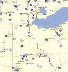Sturgis Michigan Map by Maps Don Moe U0027s Travel Website
