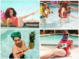 pinup pool party l a vintage travel pool party perfect