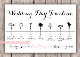 Cute Wedding Programs Custom Wedding Timeline 5x7 Digital File