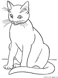 cat black white cat coloring pages clipart u2013 gclipart