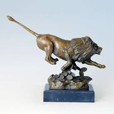 lion figurine atlie bronzes gifts office decor brass lion sculpture bronze