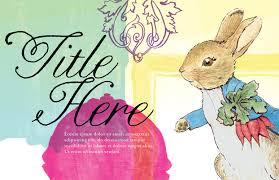 peter rabbit serif design
