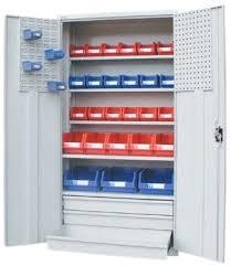 Heavy Duty Steel Cabinets Sbc H169 5s Storage Cabinet 5 Shelves 3 Drawers Shopflow