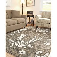 Damask Kitchen Rug Shag Rug In Smoke With A Floral Damask Motif Home Remodel