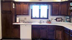 Flooring And Kitchen Cabinets For Less Kitchen Great Dark Kitchen Cabinet Ideas And Black Floor White
