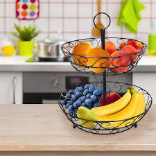 fruit basket stand sorbus 2 tier countertop fruit basket holder decorative bowl